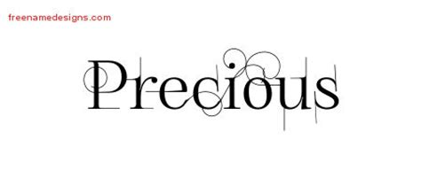 tattoo font precious precious archives free name designs