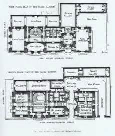 mansion blueprints mansion floor plans william a clark house new york
