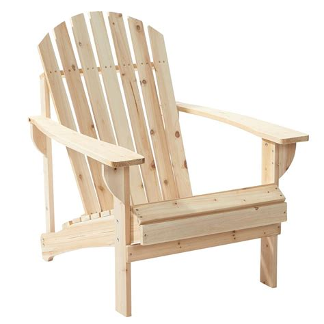 unfinished wood patio adirondack chair    home depot