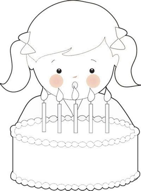 coloring page birthday girl free birthday girl coloring page