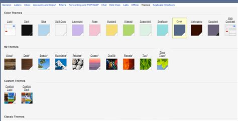 gmail themes font how to customize gmail theme