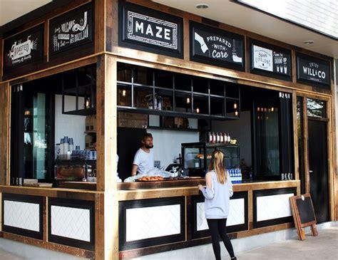 coffee shop facade design maze cafe designed by benson studio recycled timber