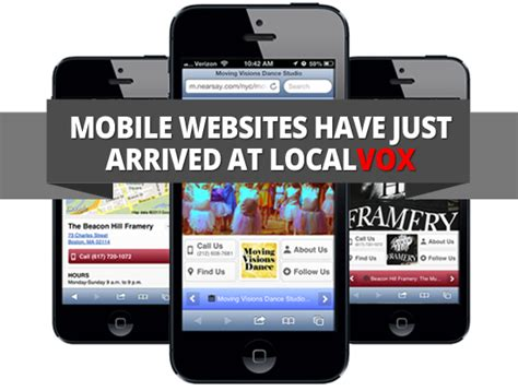 mobile website builder 4 to a great local mobile website mobile website