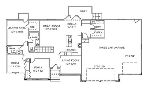 photo of house plans with finished walkout basement