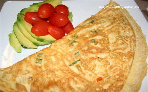 resep  membuat telur dadar  enak resep masakan