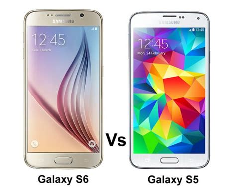 Samsung S6 Vs S5 Samsung Galaxy S6 Vs Samsung Galaxy S5
