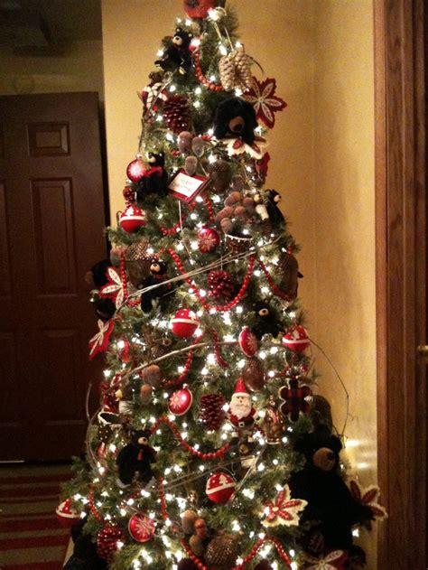 images  black bear christmas  pinterest christmas trees close   wood