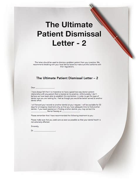 Patient Dismissal Letter Dental Practice Resources Free Dental Resources The Madow Brothers