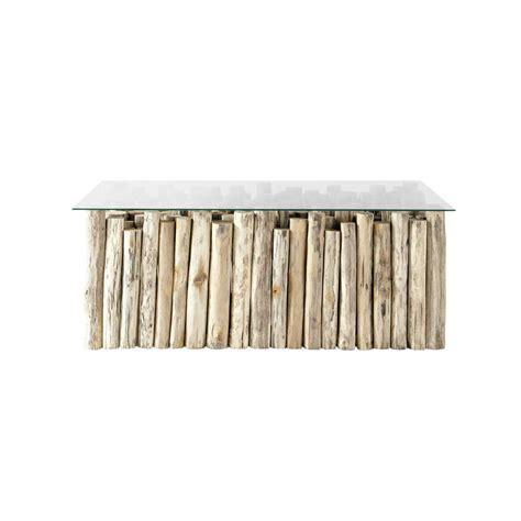 Table Basse Teck Et Verre