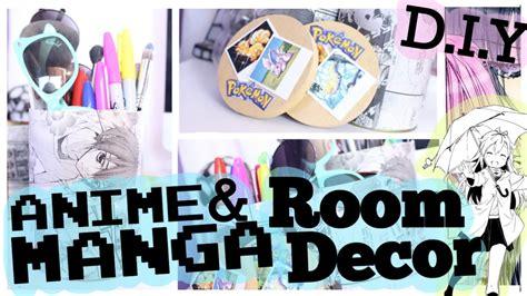 anime bedroom decor d i y anime manga room decor sammiespeaks youtube