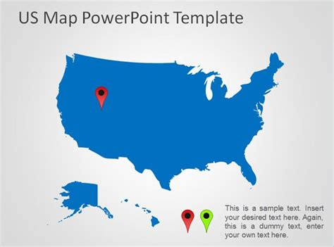 Free Us Map Powerpoint Template Free Powerpoint Templates Slidehunter Com Powerpoint Map Templates