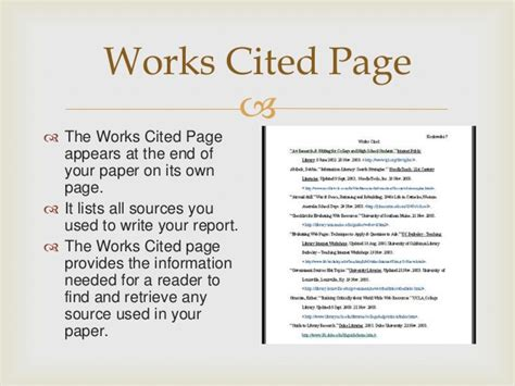 How To Do Works Cited For Research Papers by Mla Powerpoint For 4th 5th Beginning Research