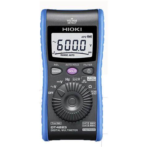 Multimeter Hioki hioki dt4223 true rms digital multimeter pocket sized with ncv detector and false trip