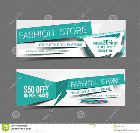 layout e banner fashion store web banner stock vector illustration of