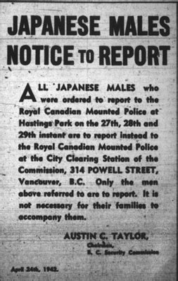 Japanese Internment Canada Essay by Photos B C S History Of Japanese Internment