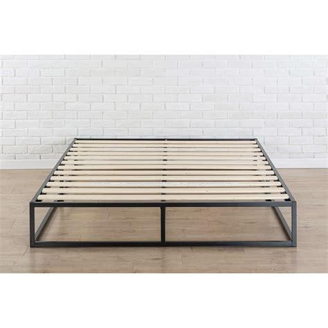 metal platform bed frame queen queen size modern 10 inch low profile metal platform bed frame with wood slats