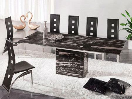 Extending Marble Dining Table Zeus Black Nero Marble Extending Dining Table 6 D 215 Chairs