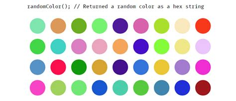 javascript random color 50 javascript libraries for front end developer web
