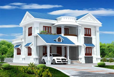 most popular exterior house color with blue roof and