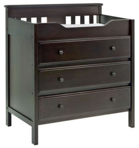 Chocolate Changing Table Newhaven 3 Drawer Changer In Chocolate Modern Changing Tables By All Modern Baby