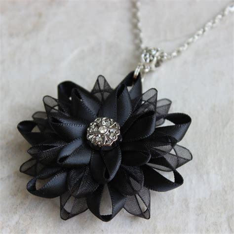 Kalungnecklace Black Flower items similar to black necklace black flower pendant necklace black flower necklace on etsy