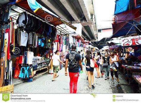 persons shopping at baclaran market manila editorial