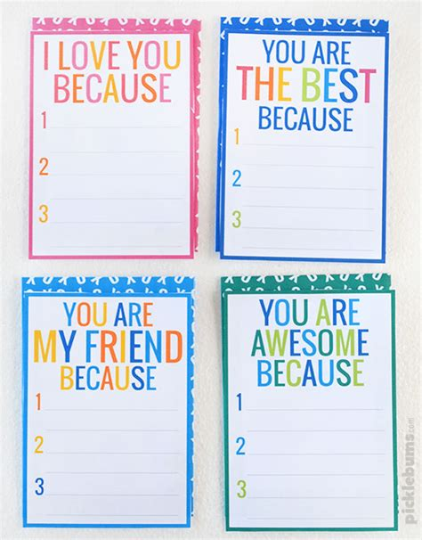 Free Printable Just Because I You Cards