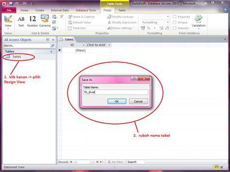 membuat database karyawan dengan access 2010 cara membuat database dengan microsoft access 2010