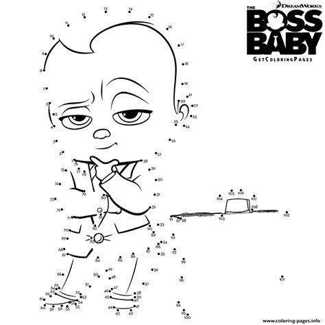 Connect The Dots Coloring Pages Printable the baby connect the dots coloring pages printable