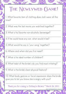 wedding shower newlywed questions 1000 ideas about newlywed questions on