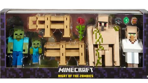 5 inch figures minecraft 5 inch figures of the zombies set unboxing