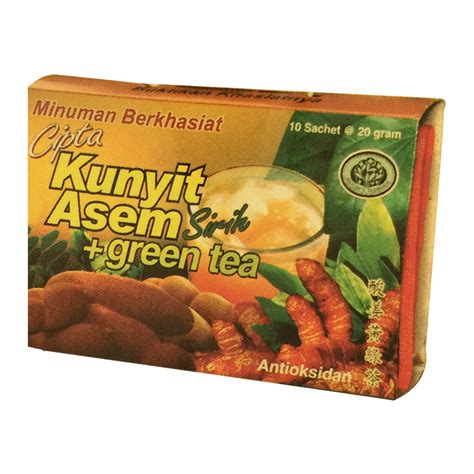 Ibu Tjipto Jamu Dewi 10 Sachet ibu tjipto jamu cipta kunyit asem sirih green tea box