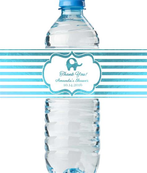 Water Bottle Baby Shower Labels by Water Bottle Labels Baby Boy Shower Real Metallic Print