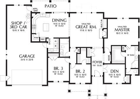blueprints homes three bedroom ranch house plan