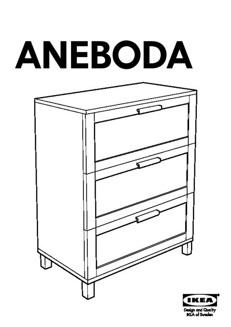 Ikea Aneboda Commode by Aneboda Commode 3 Tiroirs Blanc Ikea Ikeapedia