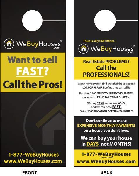 we buy houses business card templates door hangers we buy houses 174 marketing portal