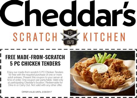 cheddars scratch kitchen coupons free 5pc chicken