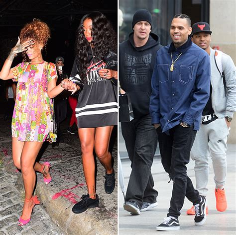 Rihanna And Forde by Photos Chris Brown Flirts With Rihanna S Friend