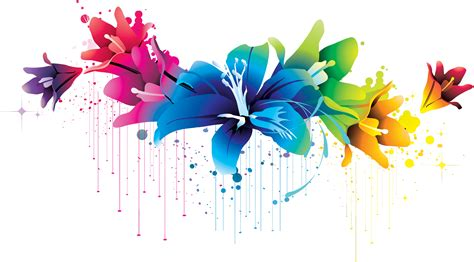 flower design hd photos colorful flower vector clipart png 02 by briellefantasy on