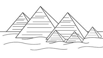 best photos of pyramid coloring pages egyptian pyramids
