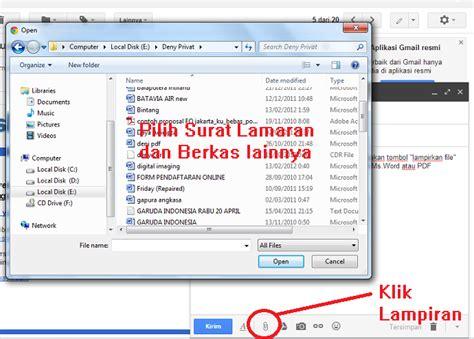 cara dan contoh mengirim surat lamaran kerja via email kumpulan