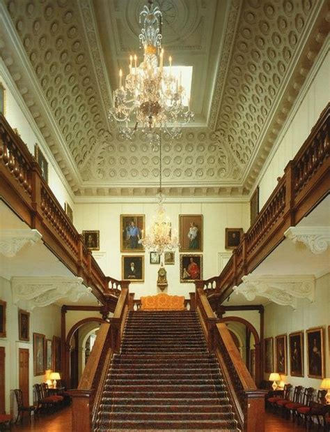althorp house interior grand staircase in the saloon althorp house northtonshire england uk this