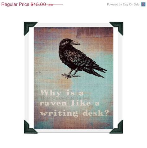 why is a raven like a writing desk tattoo why is a like a writing desk by lewis carroll