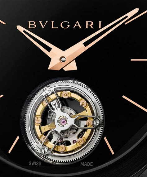 Bvlgari Flying Tourbillon Leather Black For pre basel 2016 bvlgari octo ultranero finissimo