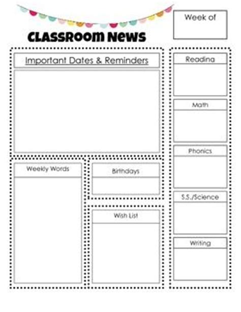 Newsletter Outline Template by Best 25 Preschool Newsletter Ideas On