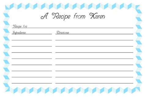 access recipe card template recipe card template 2