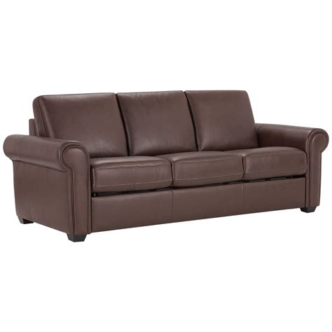 City Furniture Lincoln Medium Brown Leather Vinyl Sofa Medium Brown Leather Sofa