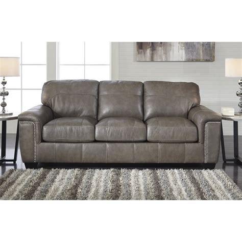 granite sofa ashley donnell leather sofa in granite 2680038