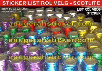 List Velg Cutting Sticker Gopro sticker cutting grosir stiker toko stiker