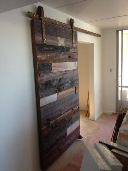Contemporary Reclaimed Barn Wood Sliding Door Home Recycled Barn Doors